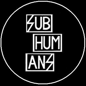 "Button Subhumans ""Schrift"""