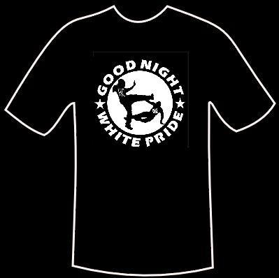 "T-Shirt ""Good night white pride"""