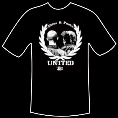 "T-shirt ""Punks and Skins United"""