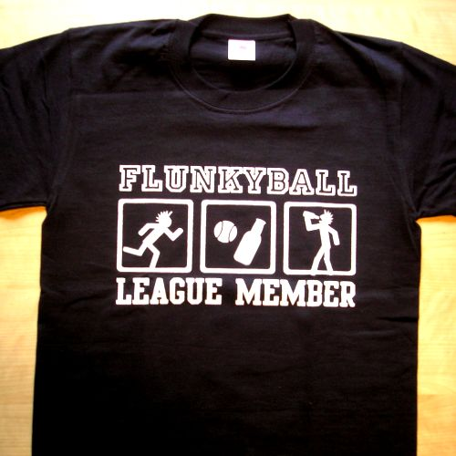 "T-Shirt ""Flunkyball League\"""