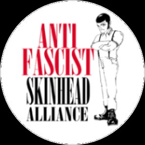 Button Anti Faschist Skinhead Alliance b