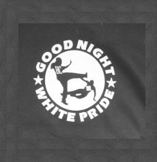 "Kapuzen-Pullover ""Good night White Pride"""