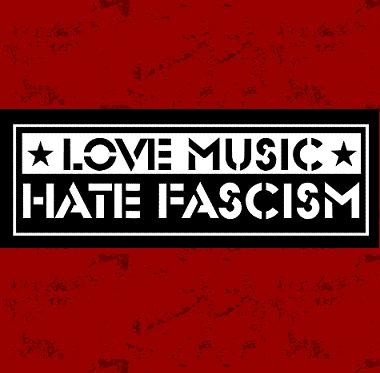 Aufnäher - Love music hate fascism s
