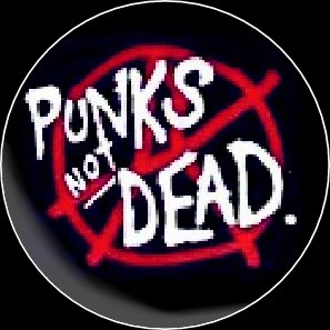 Button Punks not dead