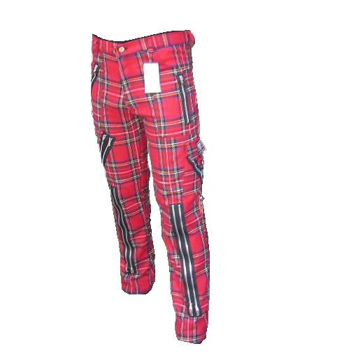 Bondage Hose tartan rot Tiger of London
